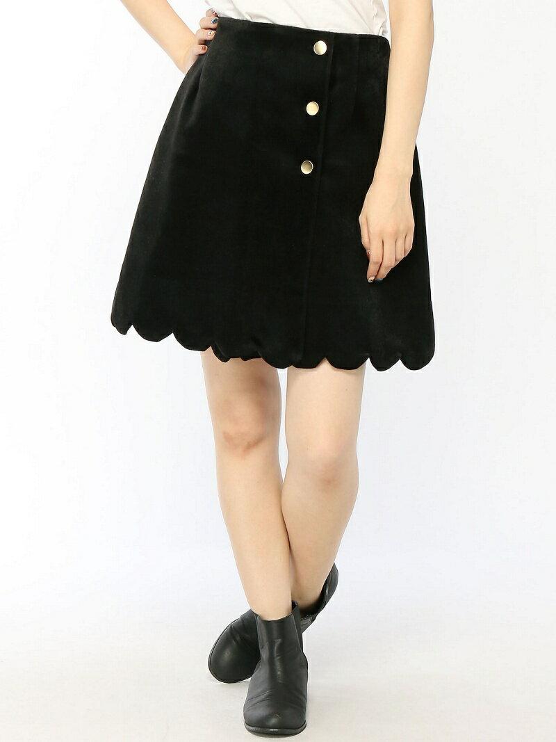 ラップスカラップスカート オリーブ・デ・オリーブ【送料無料】
