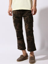 SULFUR STRETCH CROPPED CARGO PANTS