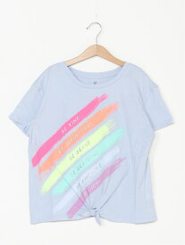 【SALE/24%OFF】GAP (K)結び紐付き グラフィックtシャツ (キッズ) ギャップ カットソー キッズカットソー ブルー パープル