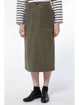 モールスキンセミタイトスカート