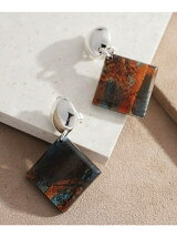 Vintage Square Ear Clips