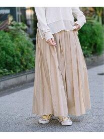 【SALE/60%OFF】Munich コットンナイロンペーパーローン ギャザーマキシスカート ミューニック スカート ロングスカート ベージュ ブルー ブラック【送料無料】