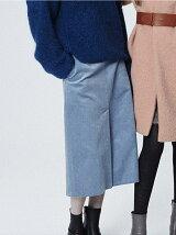 c/pe. Corduroy flare skirt