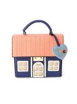 (W)【LITTLE ACCESSORIES リトルアクセサリーズ】ハウス(家)デザイン2wayバッグ