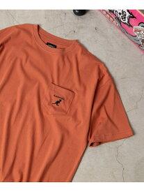 【SALE/13%OFF】WEGO 0/(M)別注カンゴールポケT(S) ウィゴー カットソー Tシャツ ブラウン ブラック ベージュ ホワイト