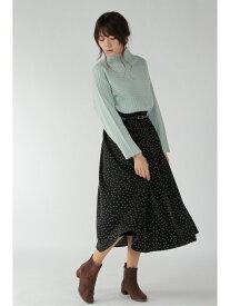 【SALE/30%OFF】ikka ベルト付き起毛ギャザースカート イッカ スカート ロングスカート ブラック グリーン ネイビー ベージュ ピンク