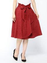 エルモザスエードラップスカート