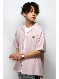 【SALE/38%OFF】VENCE share style KANGOLシシュウカイキンシャツ ヴァンス エクスチェンジ シャツ/ブラウス シャツ/ブラウスその他 ピンク ブラック ブラウン