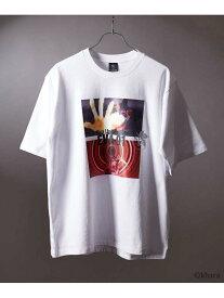 【SALE/50%OFF】tk.TAKEO KIKUCHI EVANGELIONコラボ 初号機Tシャツ ?『綾波は綾波しかいない』 ティーケータケオキクチ カットソー Tシャツ ホワイト ブラック