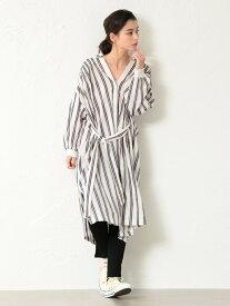 【SALE/40%OFF】GUILD PRIME 【FreiEA】WOMENスキッパーロングシャツドレス ラブレス ワンピース シャツワンピース ホワイト【送料無料】
