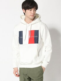 【SALE/50%OFF】TOMMY HILFIGER (M)TOMMY HILFIGER(トミーヒルフィガー) フラッグ ロゴ パーカー トミーヒルフィガー カットソー パーカー ホワイト ブルー グレー レッド【送料無料】