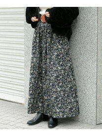 Sonny Label フラワープリントロングスカート サニーレーベル スカート スカートその他 ネイビー ブラウン【送料無料】