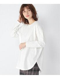 【SALE/37%OFF】studio CLIP ラウンドヘムレイヤードPO スタディオクリップ カットソー Tシャツ ホワイト グレー ブラウン