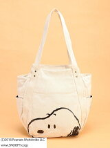 SNOOPY/(W)スヌーピープリント キャンバストートバッグ