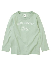 devirock デビラボ プリント長袖Tシャツ ロンT デビロック 子供服 キッズ デビロック カットソー Tシャツ ブルー パープル グレー カーキ グリーン ブラウン