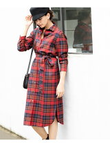 LOCHCARRON TARTAN CHECK CLEAR チェック シャツワンピース