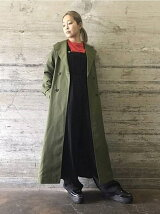 SHOE LACE STITCH TRENCH COAT