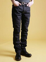 SAN JOAQUIN SALVAGE DENIM /NON WASH TAPERED SLIM JEANS