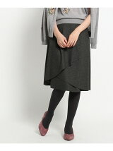 【WEB限定カラーあり】ラップ風切替スカート