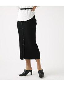 【SALE/70%OFF】AZUL by moussy BUTTONRIBKNITSKIRT アズールバイマウジー スカート スカートその他 ブラック ブラウン
