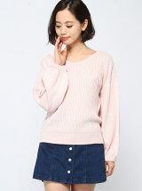 【WEGO】【Dukkah】(L)2wayボリュームパフセーター