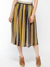 シフォンマルチストライプギャザースカート