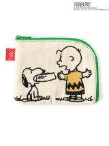 刺繍コインケース(PEANUTS SNOOPY&CharlieBrown ごはん柄)