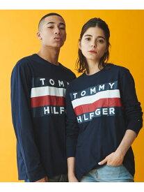 【SALE/40%OFF】TOMMY HILFIGER 【オンライン限定】ビッグ フラッグ Tシャツ / UPSTATE FLAG LS TEE トミーヒルフィガー カットソー Tシャツ ネイビー ホワイト【送料無料】