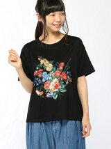 30th企画アンティークフラワー刺繍Tシャツ