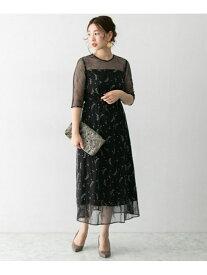 ROSSO troisiemechaco刺繍ドレス アーバンリサーチロッソ ワンピース ワンピースその他 ブラック【送料無料】