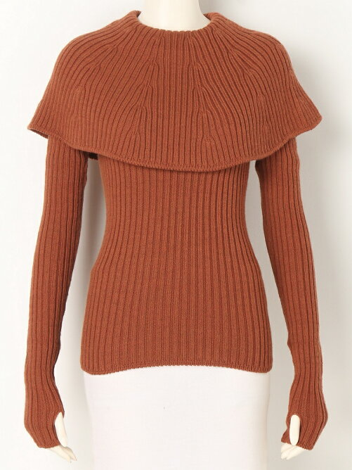 WORSTED WOOL pullover