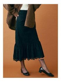 dazzlin スウェードライクラップマーメイドスカート ダズリン スカート フレアスカート ブラック ベージュ【送料無料】