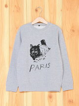 [U]PARIS Cat Illust Kids Sweat