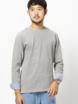 BEAMS / レイヤードボートネック ロングTシャツ 17SS