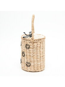 ★CAS/刺繍バケツカゴバッグ