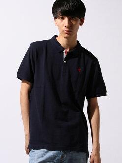 GIORDANO(M)小狮子刺绣短袖开领短袖衬衫乔丹努针织