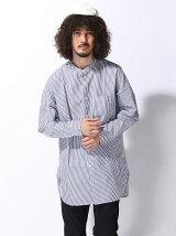 【BROWNY STANDARD】(M)バンドカラーロングシャツ
