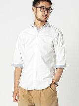 BEAMS / ストレッチオックスフォード 7分袖 スキッパーシャツ