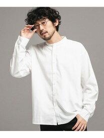 【SALE/20%OFF】nano・universe エントリーワイドバンドカラーシャツ ナノユニバース シャツ/ブラウス シャツ/ブラウスその他 ホワイト ブラウン ネイビー