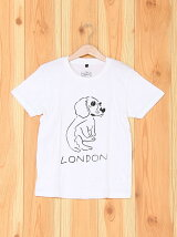 [U]LONDON Dog Illust Kids Tee