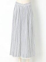 裾レースプリーツロングパンツ
