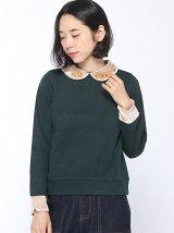 サカリバベロア襟刺繍プルオーバー