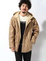 COATED MOUTON JACKET