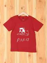[U]PARIS Dog Illust Kids Tee