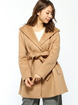 HOODED GOWN COAT