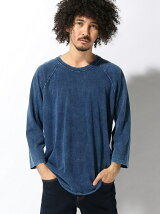 GOOD ON/(M)GO BASEBALL TEE INDIGO SHAVE