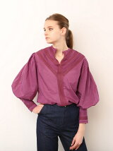 SLIK NECK LACE BLOUSE
