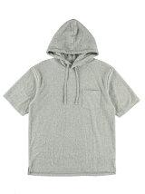TCパイル ポケット付半袖プルパーカー