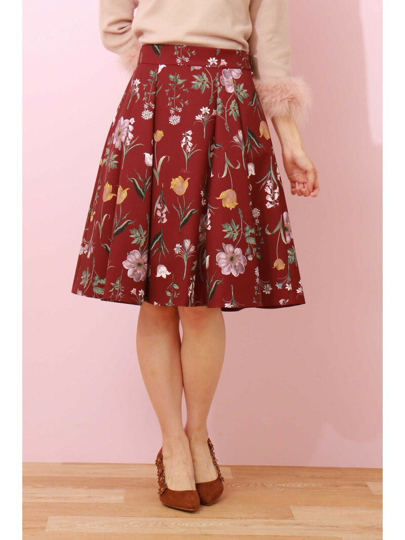 PROPORTION BODY DRESSING オータムボタニカルプリントフレアースカート プロポーションボディドレッシング スカート【先行予約】*【送料無料】