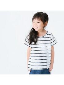 【SALE/50%OFF】COMME CA ISM 【キッズ・ベビーおそろいアイテム】後ろリボンTシャツ コムサイズム カットソー Tシャツ ホワイト ネイビー オレンジ ブルー